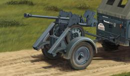 BRONCO 1/352.8cm sPzB41 On Larger Steel-Wheeled Carriage w/Trailer