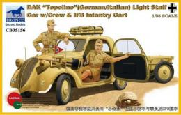 BRONCO 1/35 DAK Topolino (German/Italian Light) Staff Car