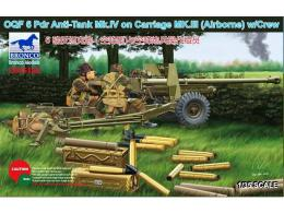 BRONCO 1/35 OQF 6 Pdr Anti-Tank Mk.IV on Carriage Mk.III (Airborne) w/Crew