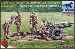 BRONCO 1/35 75mm Pack Howitzer M1A1(British Airborne Version) & Gun Crew