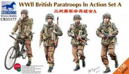 BRONCO 1/35 WWII British Paratroops In Action A