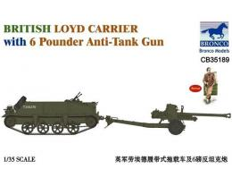 BRONCO 1/35 CB35189 British Loyd Carrier w/6 p. Anti-Tank