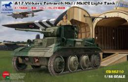BRONCO 1/35 A17 Vickers Tetrarch MkI / MkICS