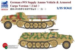 BRONCO 1/35 German sWS Supply Ammo Vehicle + Armored Cargo Version 2in1