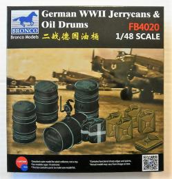 BRONCO 1/48 WWII German Jerry Can & Fuel Drum