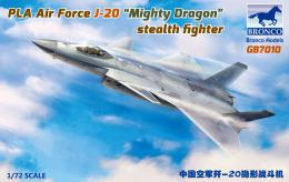 BRONCO 1/72 PLA Air Force J-20A Mighty Dragon Stealthfighter