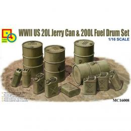 CLASSY 1/16 WWII US20L Jerry can & drum