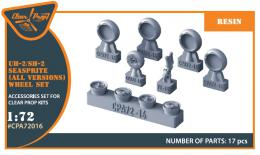 CLEAR PROP 1/72 UH-2 A/B Seasprite - wheel set