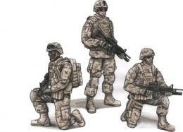 CMK 1/72 US Army Infantry Squad 2nd Division for 3 fig.