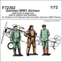 CMK 1/72 German Airmen WWI 3 fig.