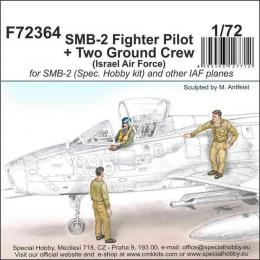 CMK 1/72 SMB-2 IDF Fighter Pilot and Ground Crew (3 fig.)