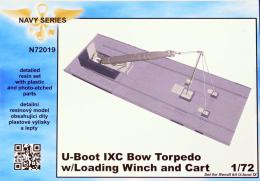 CMK 1/72 U-Boot IXC Bow Torpedo w/Loading Winch & Cart