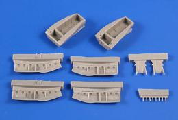 CMK 1/72 Beaufighter TF Mk.X Main Undercarriage Bays correction Set