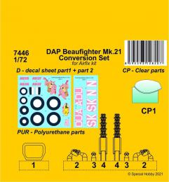 CMK 1/72 DAP Beaufighter Mk.21 Conversion set for AIR