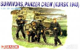 DRAGON 1/35 Survivovrs panzer Crew, Kursk 1943