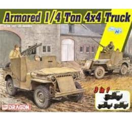 DRAGON 1/35 Armored 1/4-ton Truck w/50.cal MG