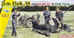 DRAGON 1/35 2cm Flak 38 Early/Late Production