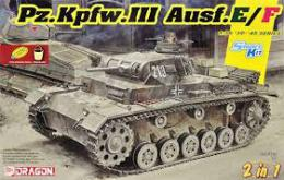 DRAGON 1/35 Pz.Kpfw.III Ausf.E/F (2 in 1)