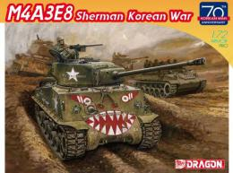 DRAGON 1/72 M4A3E8 Sherman Korean War
