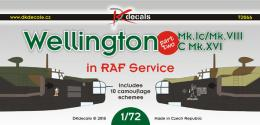 DK DECALS 1/72 Wellington in RAF Service for 10x camo Part 2