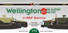 DK DECALS 1/72 Wellington in RAF Service for 10x camo Part 3