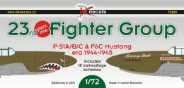 DK DECALS 1/72 23rd Fighter Group 1944-45, part 1 15x camo
