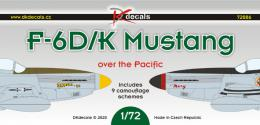DK DECALS 1/72 F-6D/K Mustang over the Pacific