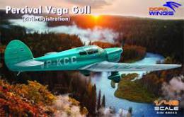 DORA WINGS 1/48 Percival Vega Gull - civil service (4x camo)
