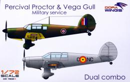 DORA WINGS 1/72 Percival Proctor & Vega Gull Military service