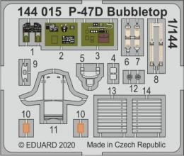 EDUARD SET 1/144 P-47D Thunderbolt Bubbletop for EDU/PLATZ