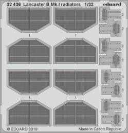 EDUARD Lepty 1/32  Lancaster B Mk.I radiators for HKM
