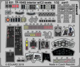 EDUARD Lepty 1/32 SET TF-104G interior w/C2 seats for ITA