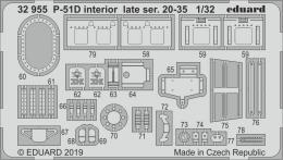 EDUARD SET 1/32  P-51D Mustang interior late ser. 20-35 for TAM