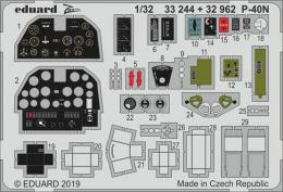 EDUARD SET 1/32  P-40N Warhawk  interior for TRU
