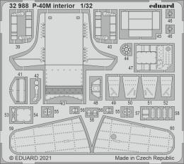 EDUARD SET 1/32  P-40M interior for TRU
