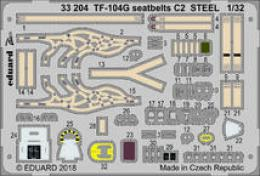 EDUARD Lepty 1/32 TF-104G seatbelts C2 STEEL for ITA