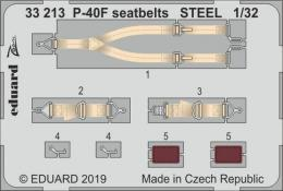 EDUARD Lepty 1/32 P-40F seatbelts STEEL for TRUMP