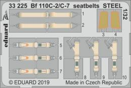 EDUARD SET 1/32 Bf-110C-2/C-7 seatbelts STEEL for REV
