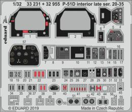 EDUARD SET 1/32 P-51D Mustang interior late 20-35 for TAM