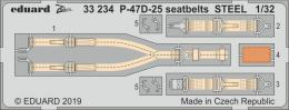 EDUARD SET 1/32 P-47D-25 Thunderbolt seatbelts STEEL for HAS