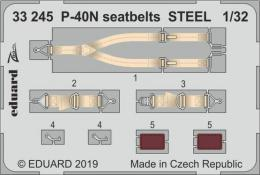 EDUARD SET 1/32 P-40N Warhawk seatbelts STEEL for  TRU
