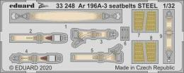 EDUARD SET 1/32 Ar 196A-3 seatbelts STEEL for REV