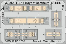 EDUARD SET 1/32 PT-17 Kaydet seatbelts STEEL for ROD