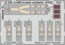 EDUARD SET 1/32 A-26B Invader seatbelts STEEL for HBB