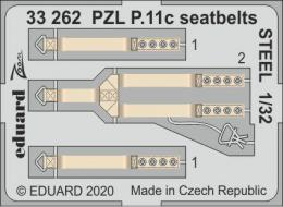 EDUARD SET 1/32 PZL P.11c seatbelts STEEL for IBG