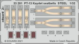 EDUARD SET 1/32 PT-13 Kaydet seatbelts STEEL for ROD