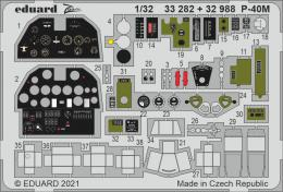 EDUARD SET 1/32 P-40M for TRU