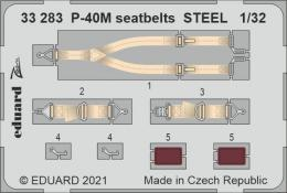 EDUARD SET 1/32 P-40M seatbelts STEEL for TRU