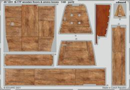 EDUARD SET 1/48 B-17F Flying Fortress wooden floors & ammo boxes for HK