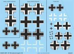 EDUARD DECALS  1/32 Bf 108 national insignia for EDU